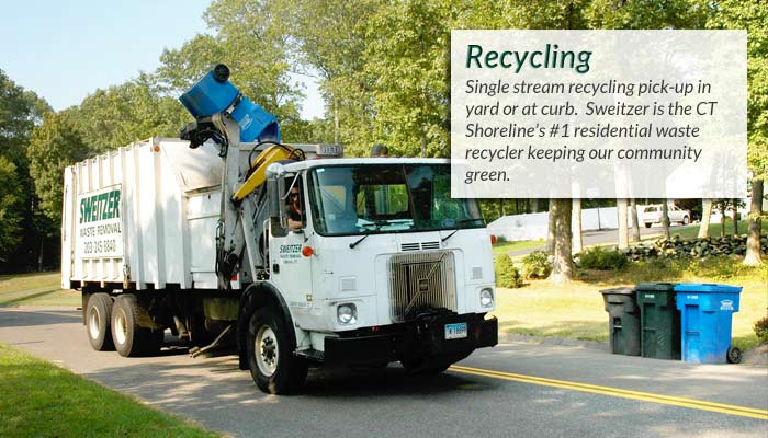 Sweitzer Waste Removal is the CT Shorelines #1 residential waste recycler - keeping CT green