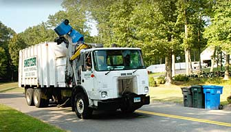 Recycling pickup service along the Connecticut Shoreline